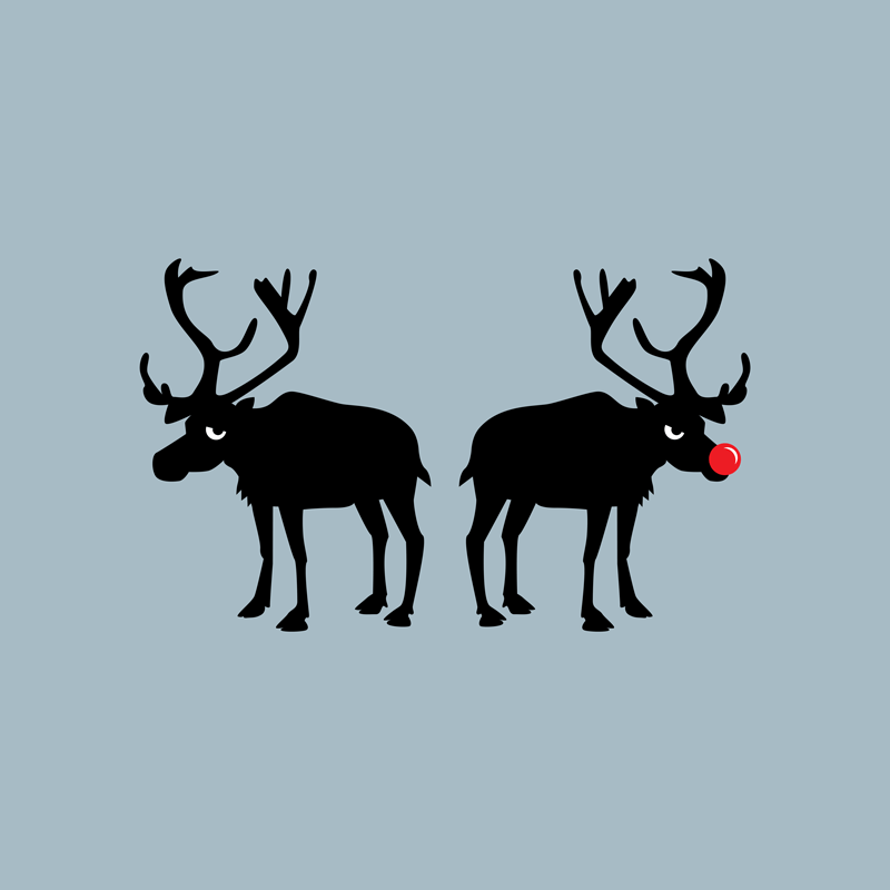 Angry Animals: Rudolph & Prancer by VrijFormaat