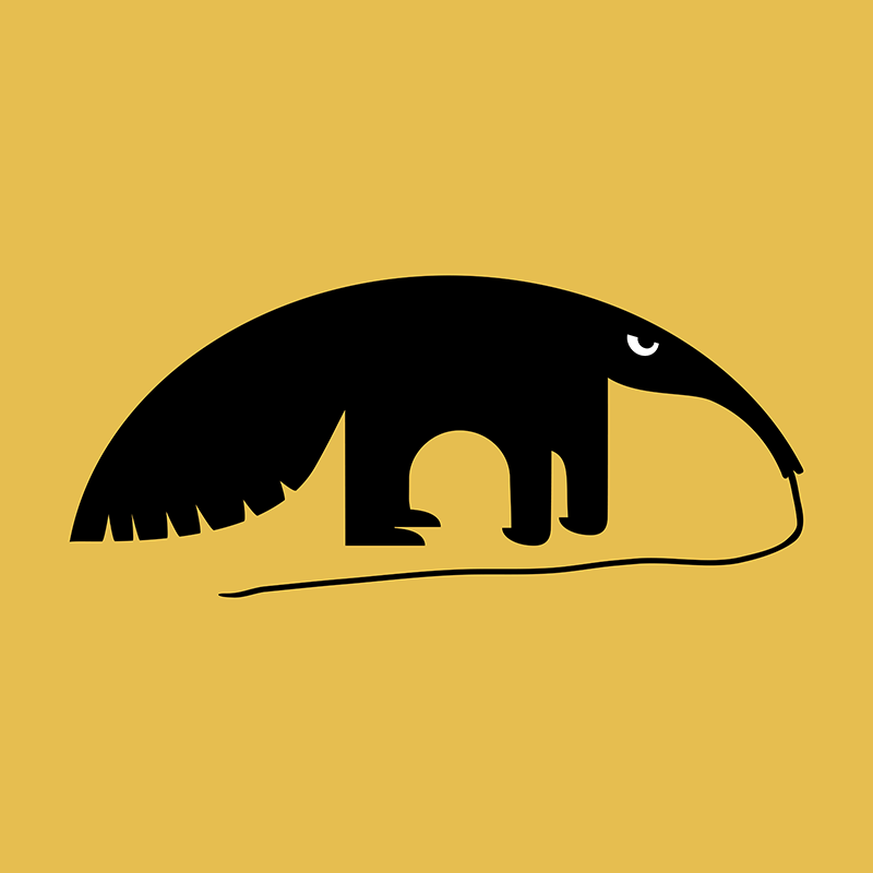 Angry Animals - Anteater by VrijFormaat