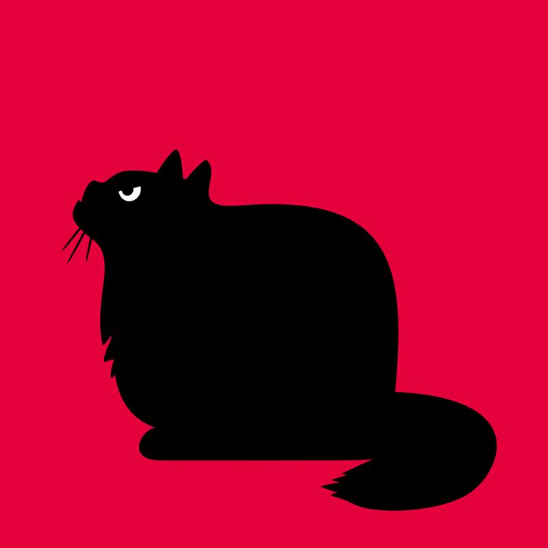 Angry Animals - fat cat design by VrijFormaat