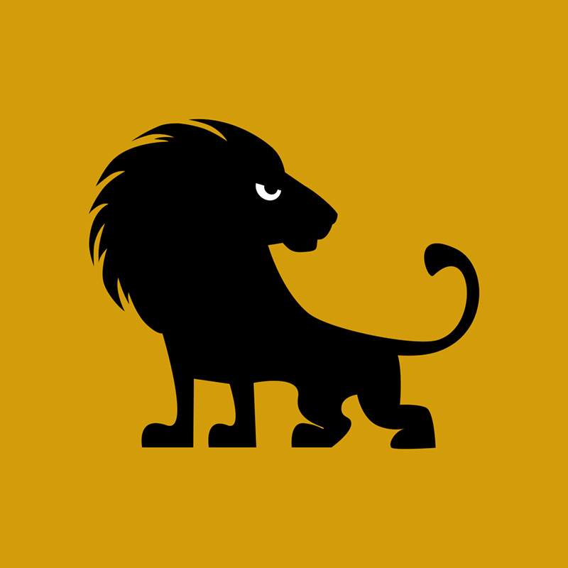 Angry Animals - lion design by VrijFormaat