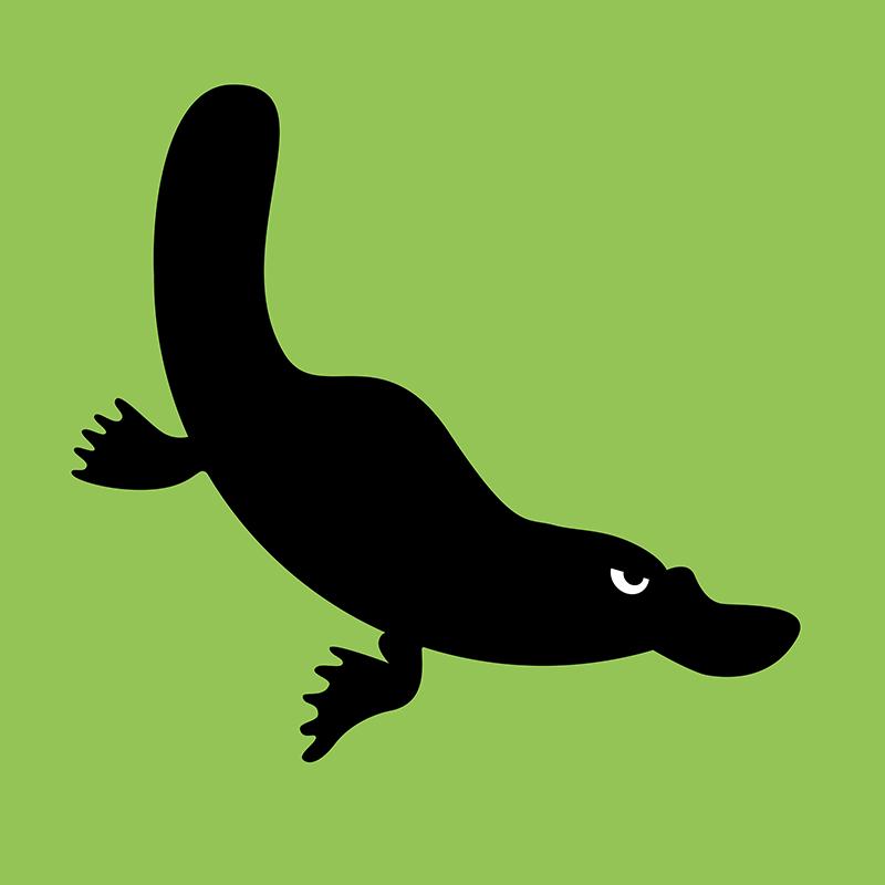 Angry Animals - platypus design by VrijFormaat