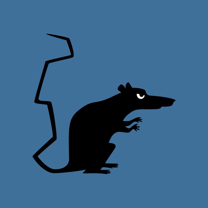Angry Animals - rat design by VrijFormaat