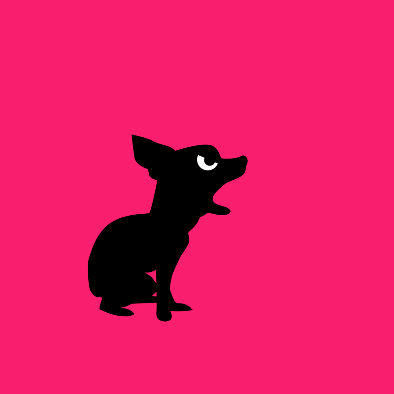 Angry Animals: Chihuahua design by VrijFormaat
