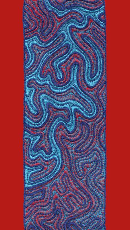 Stitches - Coral