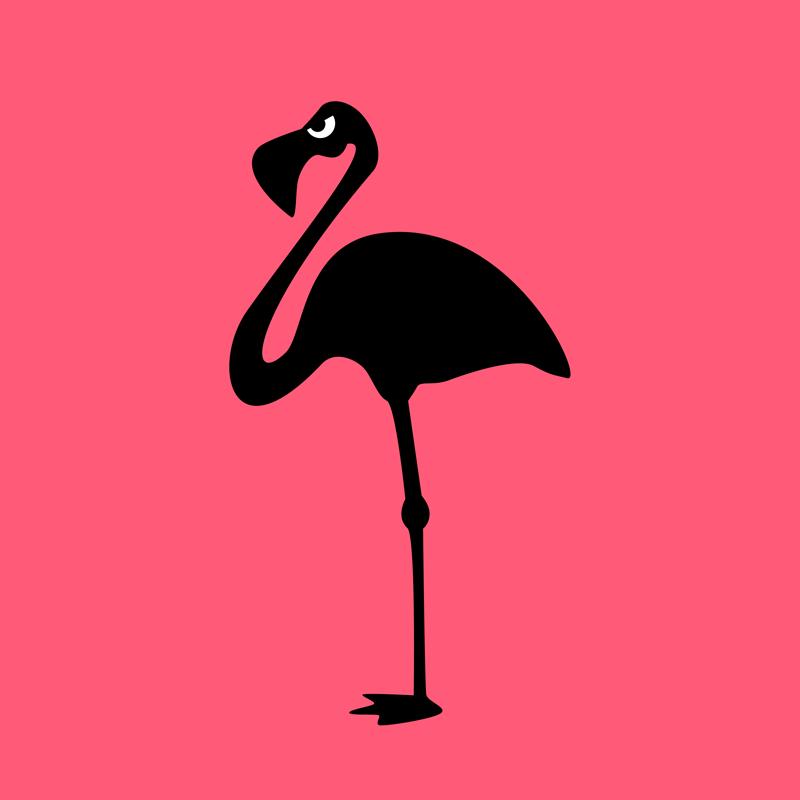 Angry Animals: Flamingo by VrijFormaat