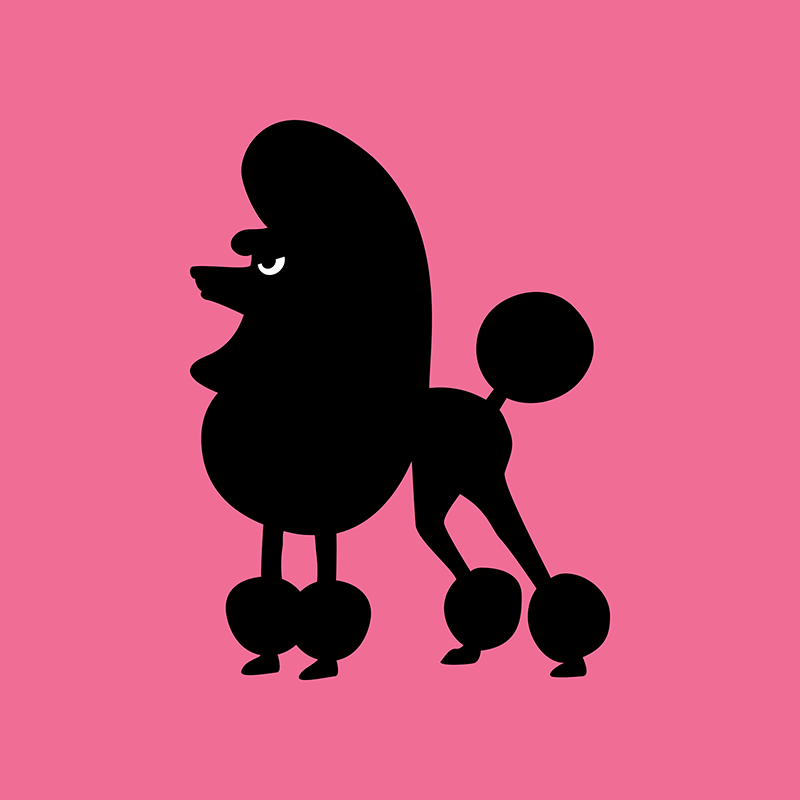 Angry Animals - french poodle design by VrijFormaat