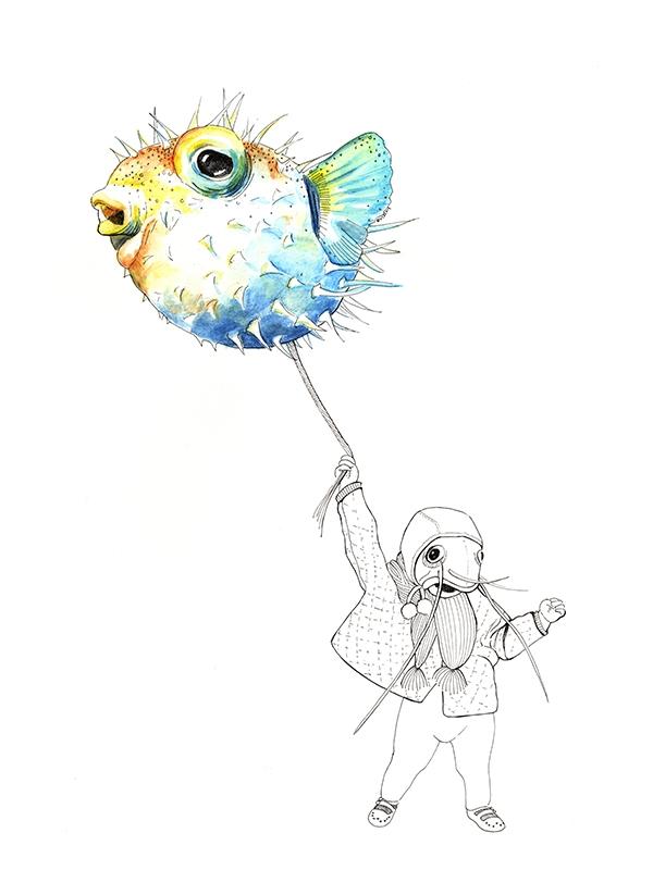 Pufferfish  - puffed up