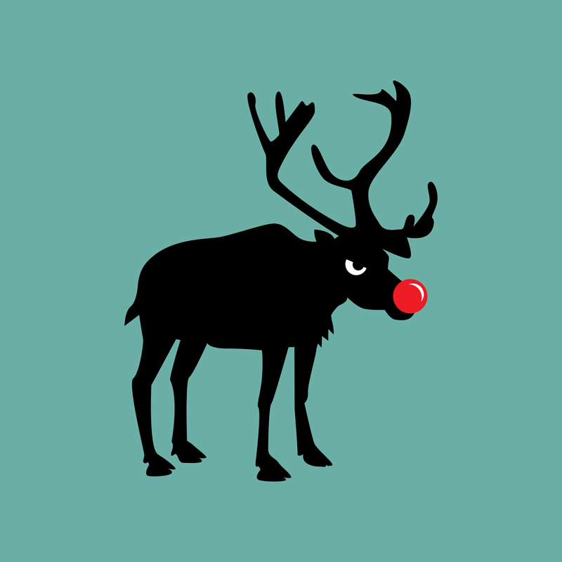 Angry Animals: Rudolph the rednosed reindeer by VrijFormaat