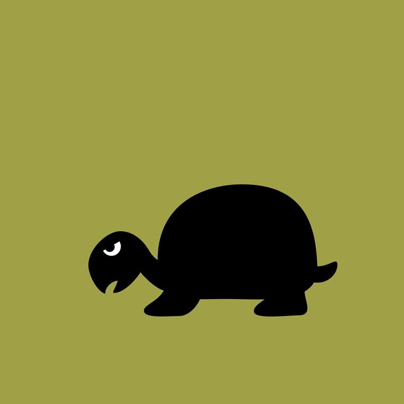 Angry Animals: Tortoise by VrijFormaat