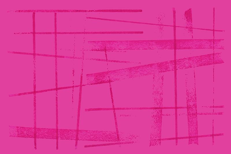 Handmade patterns - a hot pink mess