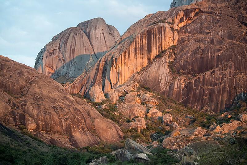 Sunset on Madagascar mountains