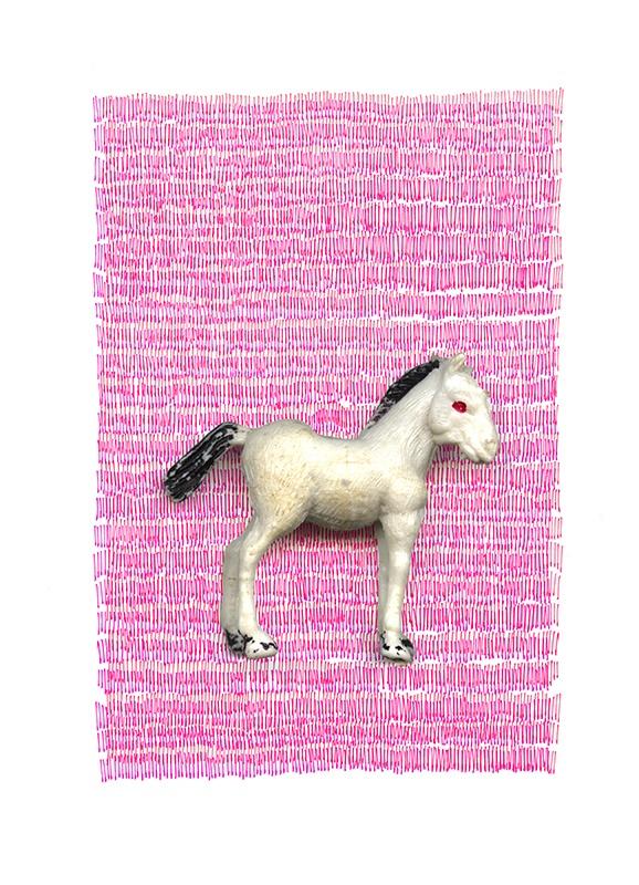 my little foal in a sea of pink