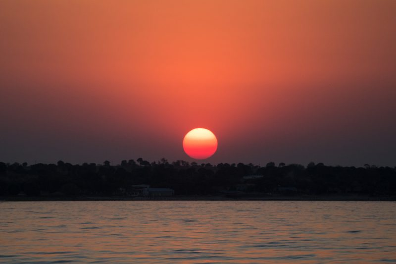 By the light of the sun and the moon - Really red sun by VF PHoto