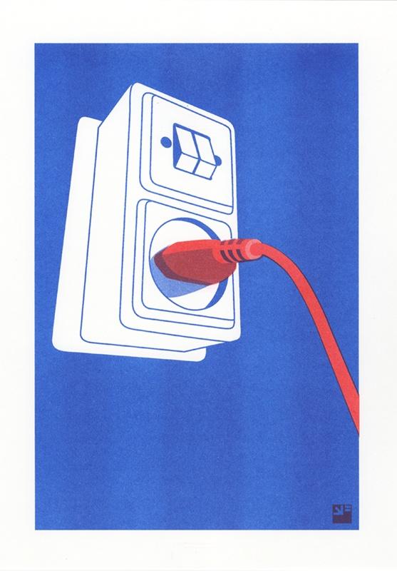 risograph print Socket © VrijFormaat
