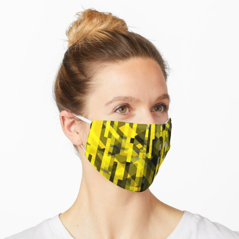 Redbubble facemask with abstract design by VrijFormaat