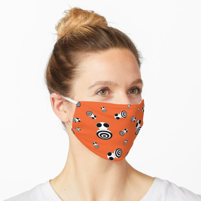 Redbubble facemask with Keep Breathing design by VrijFormaat