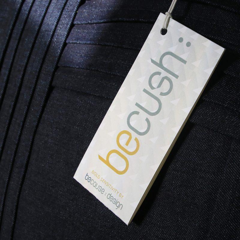 Because-design label becush