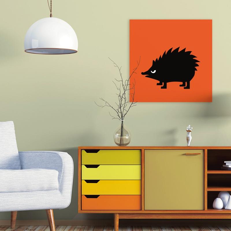 dibond print Angry Animals - Hedgehog ©VrijFormaat