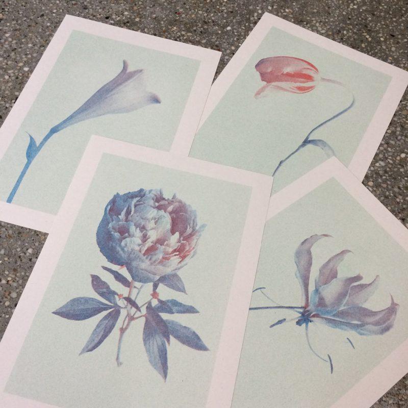 Bloom - riso prints ©VrijFormaat